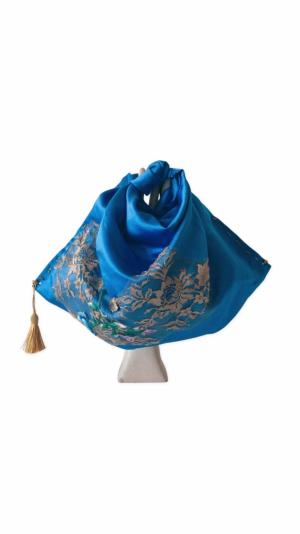 Akane blue satin bag 1