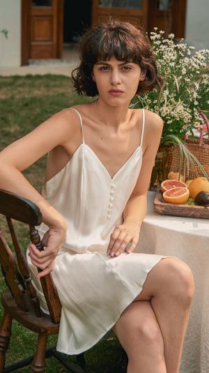 Silk Slip Dress 1