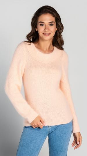Fluffy Peach Angora Women's Sweater 2