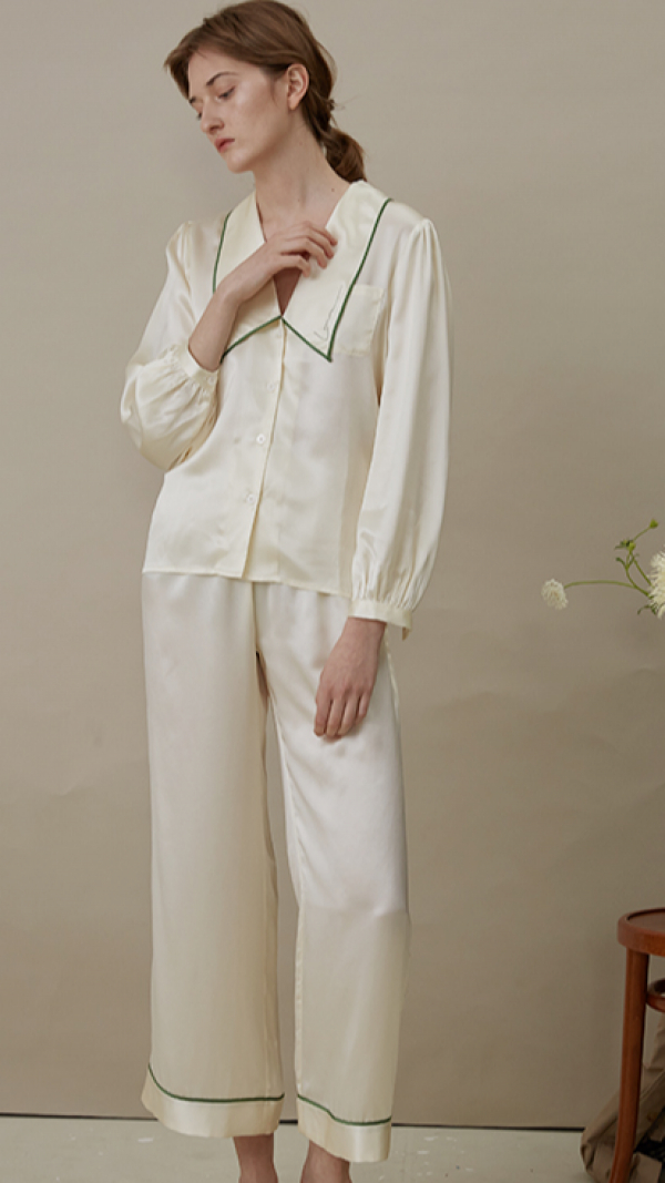 French Style Long Pajama Suit 2