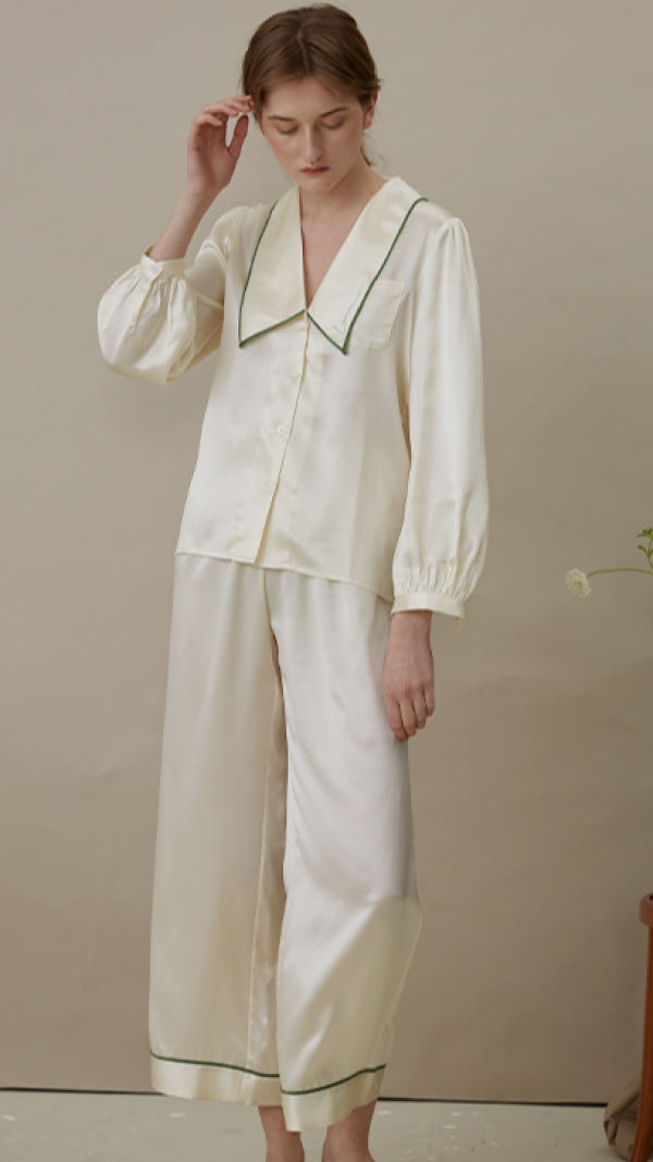French Style Long Pajama Suit 1