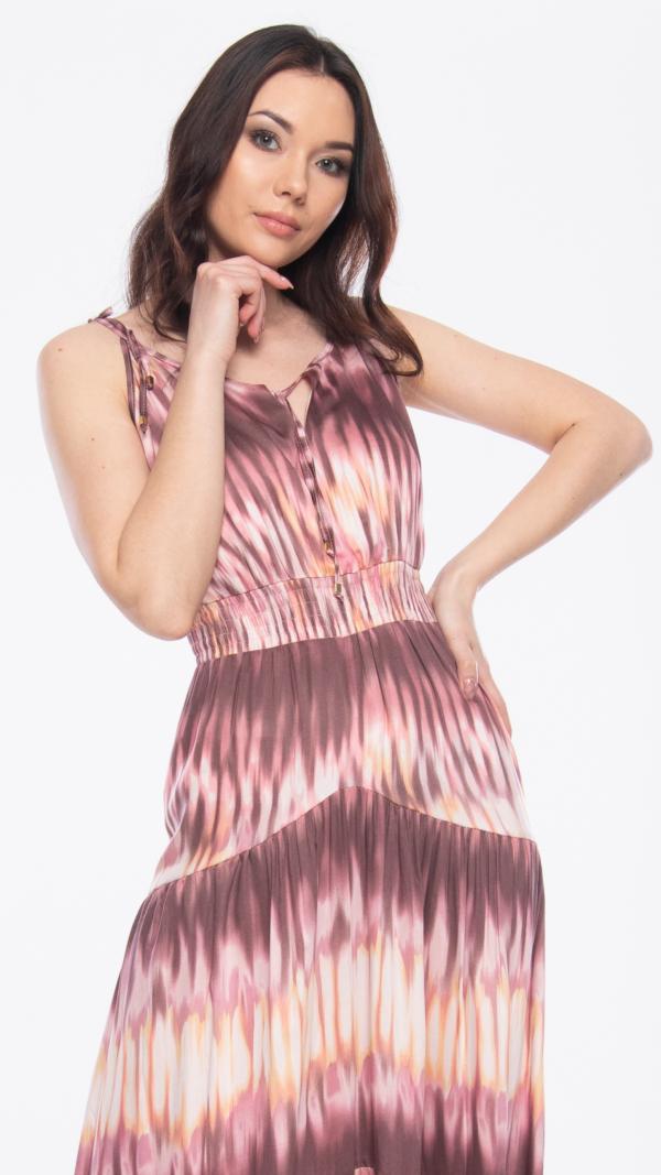 Pink Batik Maxi Dress 2