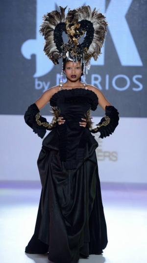 Black Strapless Gown 1