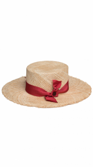 Shabby hat raspberry 1