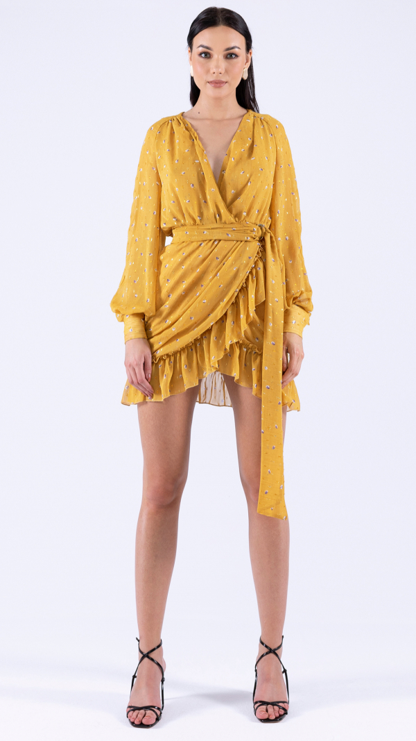 Mustard Yellow Dress Mini 2