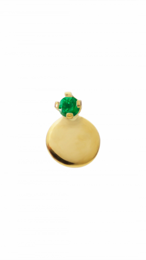 Elfin Emerald Dot Stud - Single 1