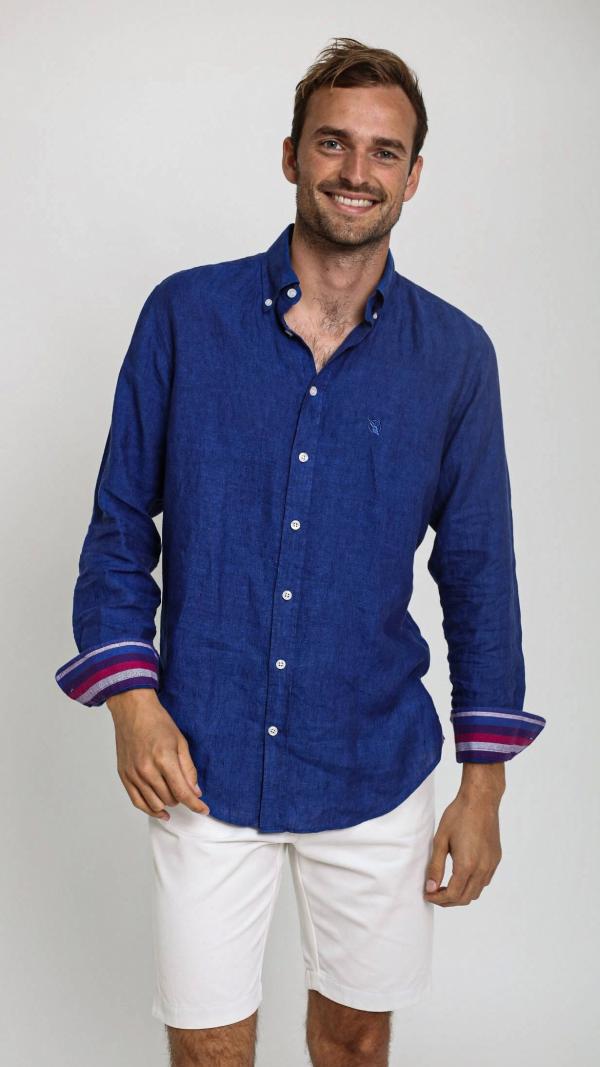 navy_linen_shirt_with_african_fabric_trim_2