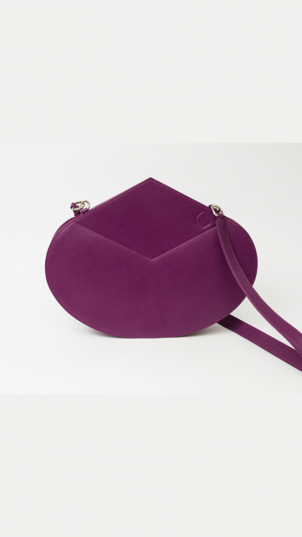 Leather Handbag Purple The Drop 2