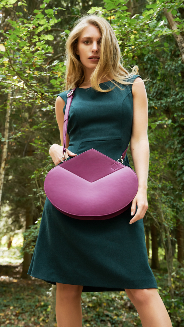 Leather Handbag Purple The Drop 1