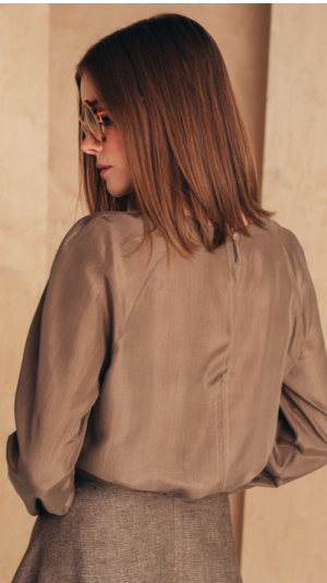 Long-sleeved Silk Blouse 2