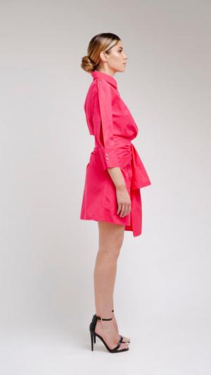 Pink Shirt Dress 2