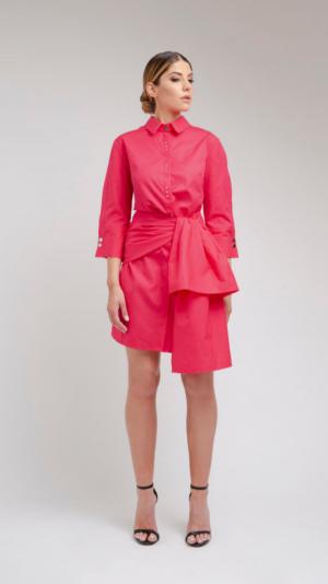 Pink Shirt Dress 1