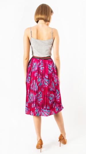 Pleated Skirt Red Mandarin 2