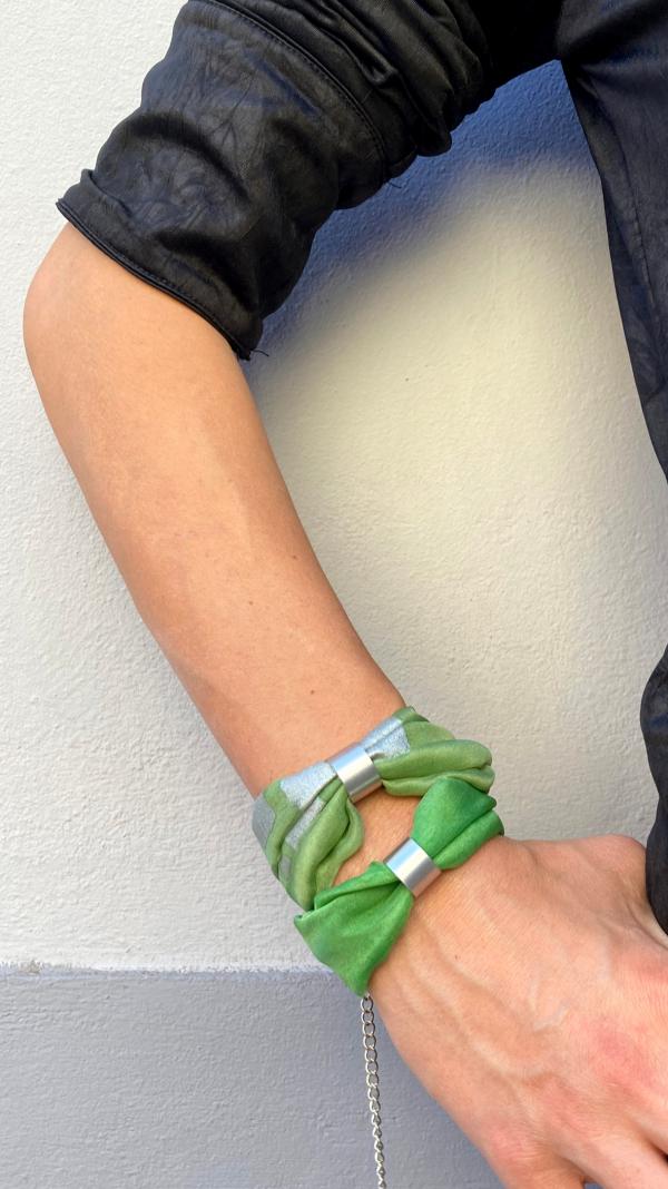 Green necklace - bracelet (2in1) 2
