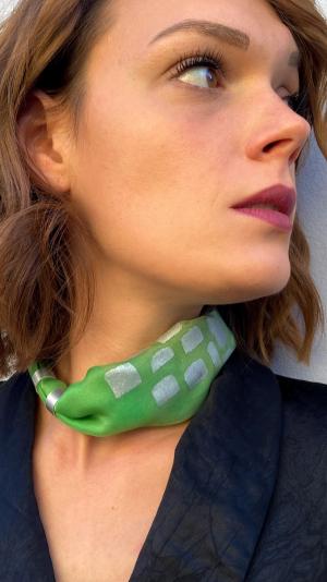 Green necklace - bracelet (2in1) 1