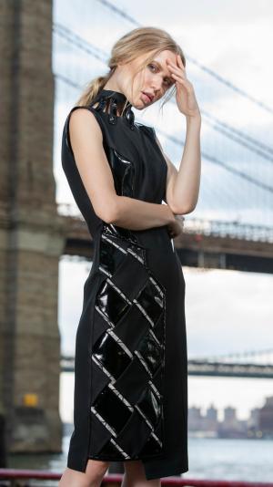 Black asymmetric dress 2