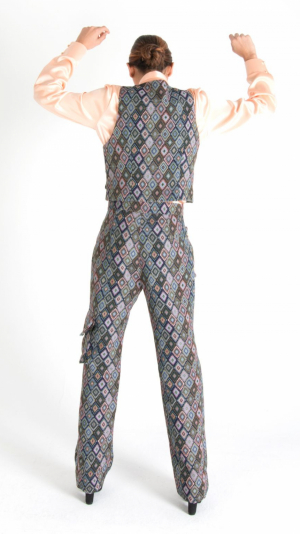 Multicolor Long Trousers with Pockets Grey 2