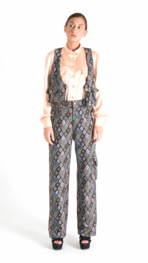 Multicolor Long Trousers with Pockets Grey 1