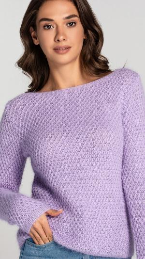 Lavender Angora Women's warm Sweater 2