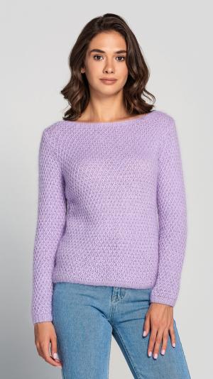 Lavender Angora Women's warm Sweater 1