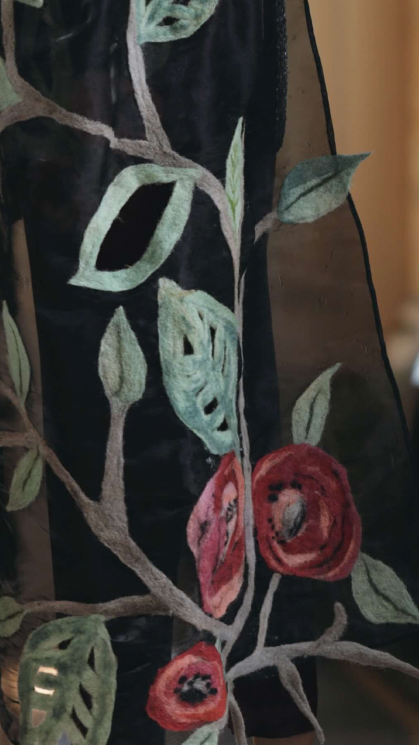 black_scarf_with_floral_details