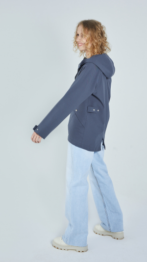 Unisex Grey Leisure Raincoat – recycled materials 2