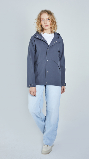 Unisex Grey Leisure Raincoat – recycled materials 1
