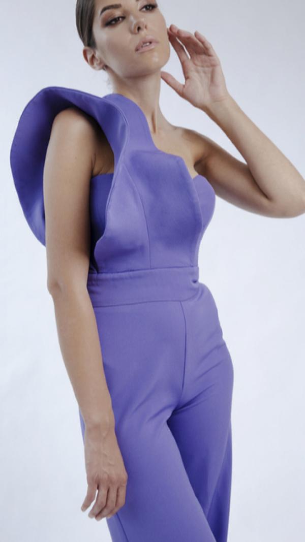 Purple jumpsuit 1