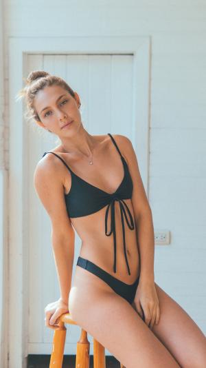 Ambar bikini bottom in black 2