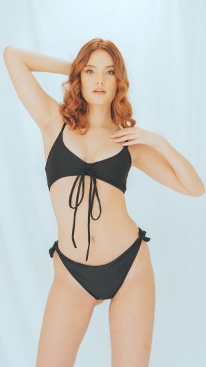 Ambar bikini bottom in black 1