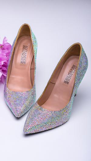 Crystal high heels 1
