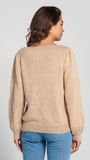 Women's Beige Wool Sweater 2