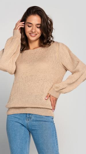 Women's Beige Wool Sweater 1