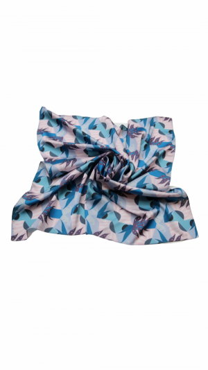 Women's Abstract Printed Scarf Hair Accessories Neckerchief 1
