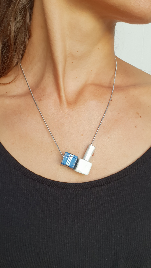 Cube &Tube porcelain jewelry set 2