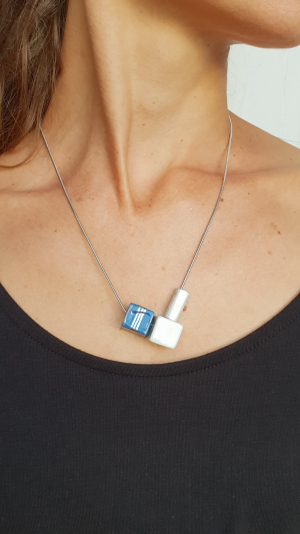 Cube &Tube porcelain jewelry set 2