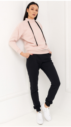 Cosy Home Tracksuit Pink & Black 2