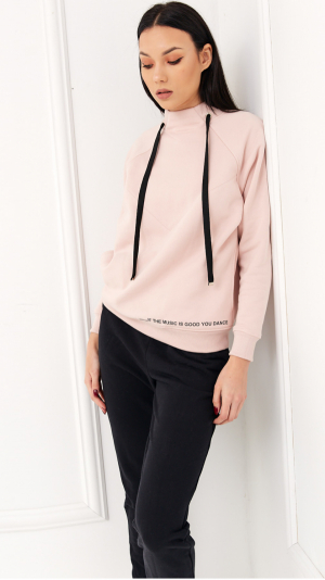 Cosy Home Tracksuit Pink & Black 1