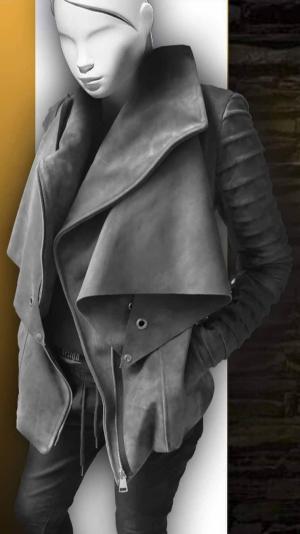 Women's leather jacket 2