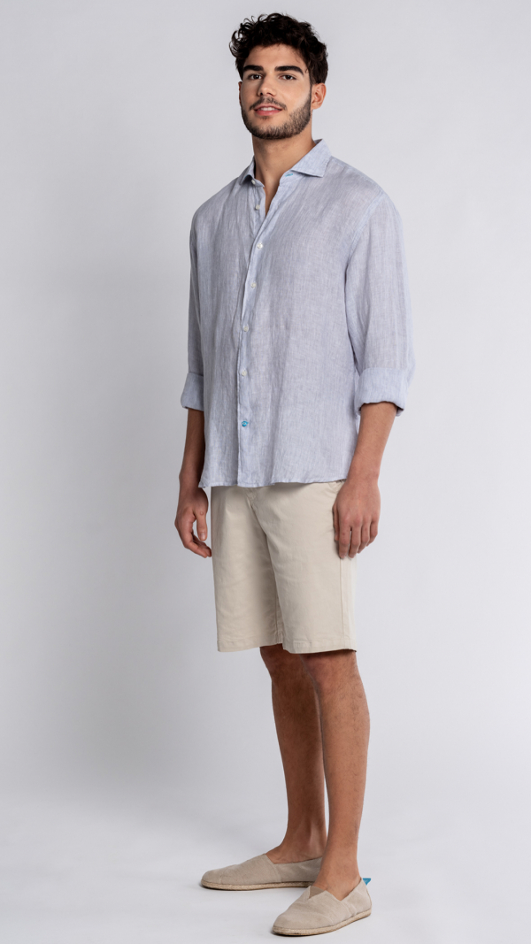PHUKET Striped Linen Shirt 2