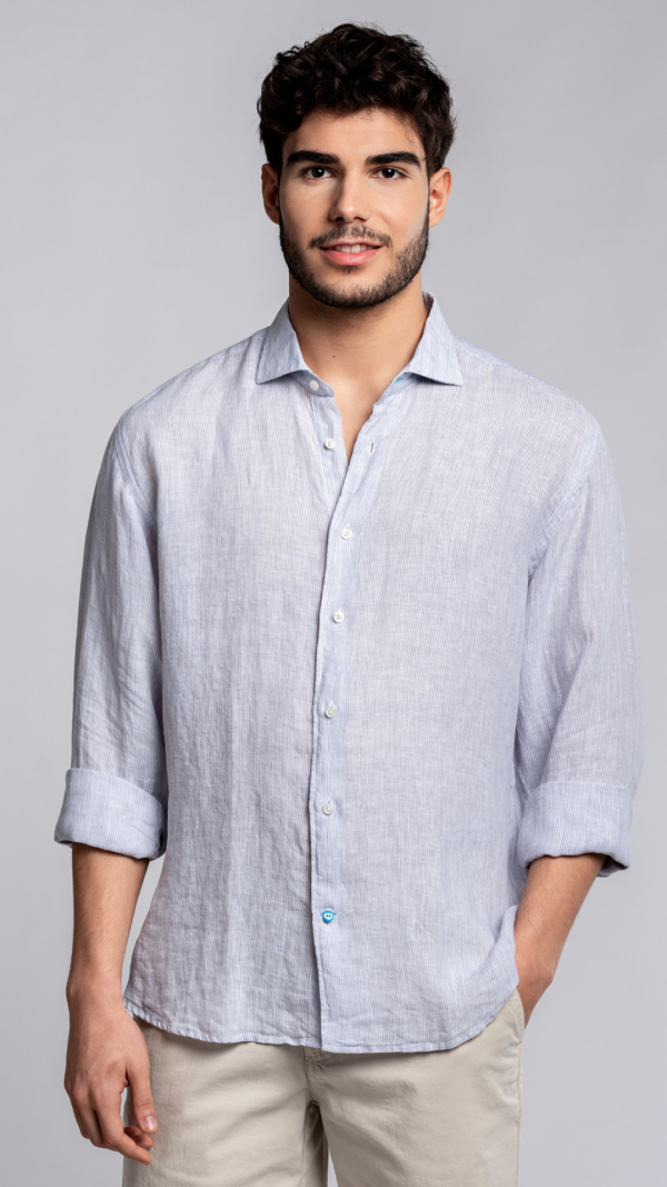 PHUKET Striped Linen Shirt 1