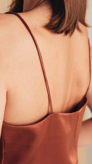 Silk Camisole Top with Draped Detail 2