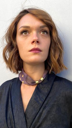 Dark rose brown  necklace - bracelet (2in1) 2