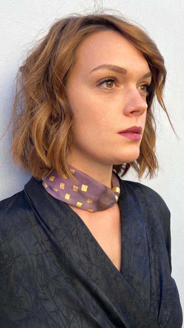 Dark rose brown  necklace - bracelet (2in1)