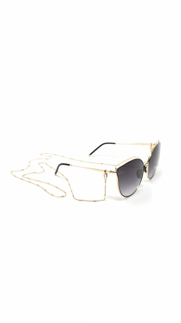 BAST black - sunglasses, chain & leather case 1
