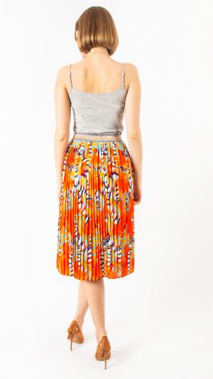 Pleated Skirt Orange Sea 2