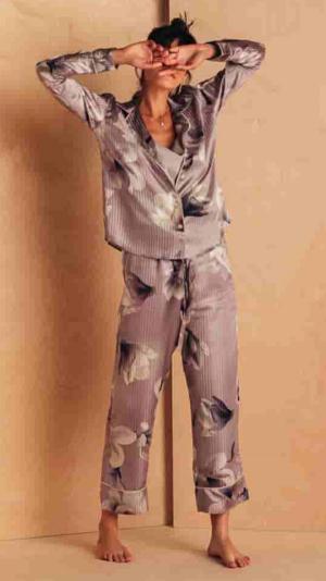 Silk Floral Pyjama Set 1