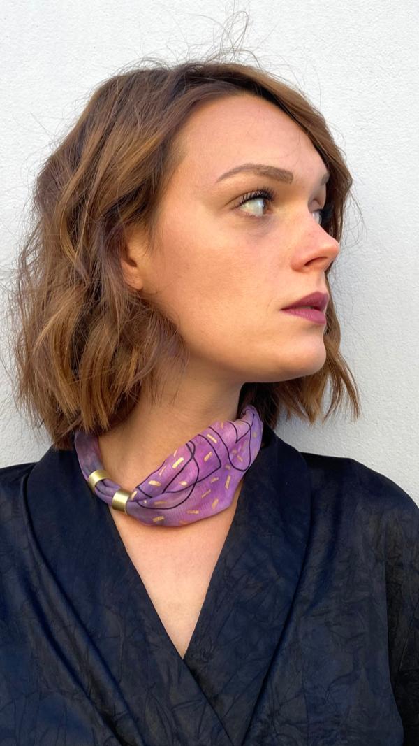 Pink necklace - bracelet (2in1) 2