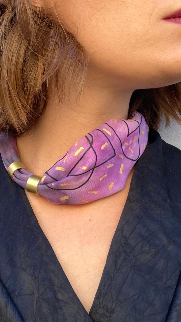 Pink necklace - bracelet (2in1)
