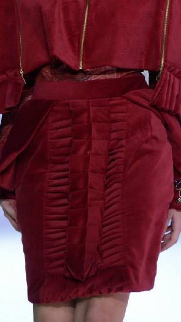 Velvet Pleated Skirt 2